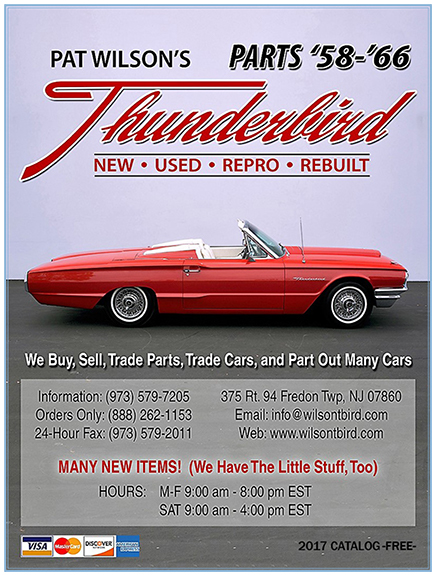 2017cover pat wilson's thunderbird parts 1971 Thunderbird Interior at mifinder.co