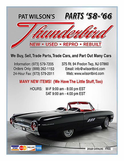 Pat Wilson's Thunderbird Parts 2018 Catalog