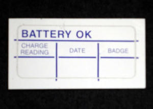 6063 battery ok decal